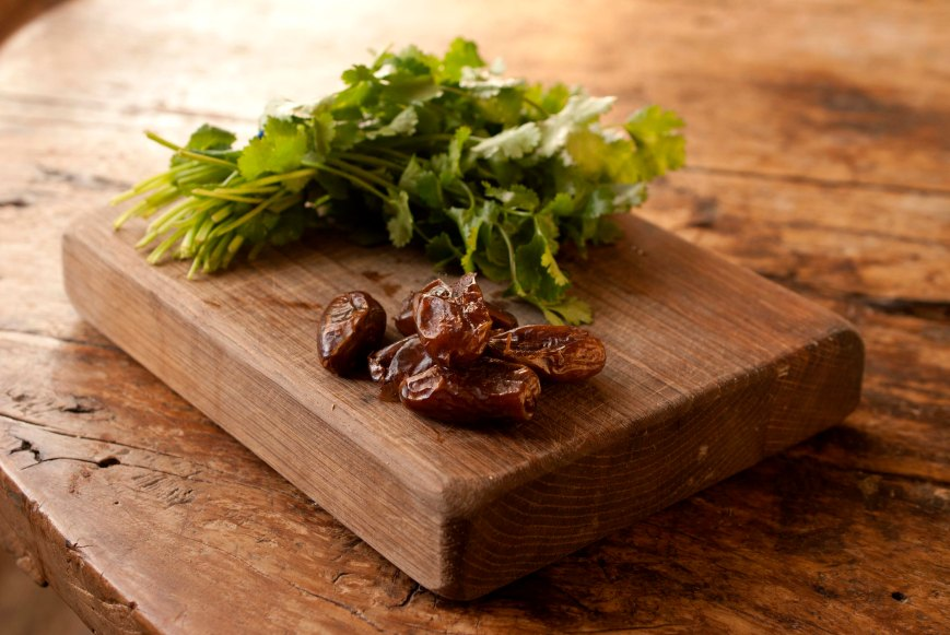 coriander and dates