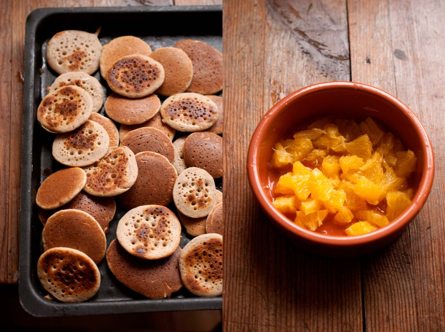 blinis and orange