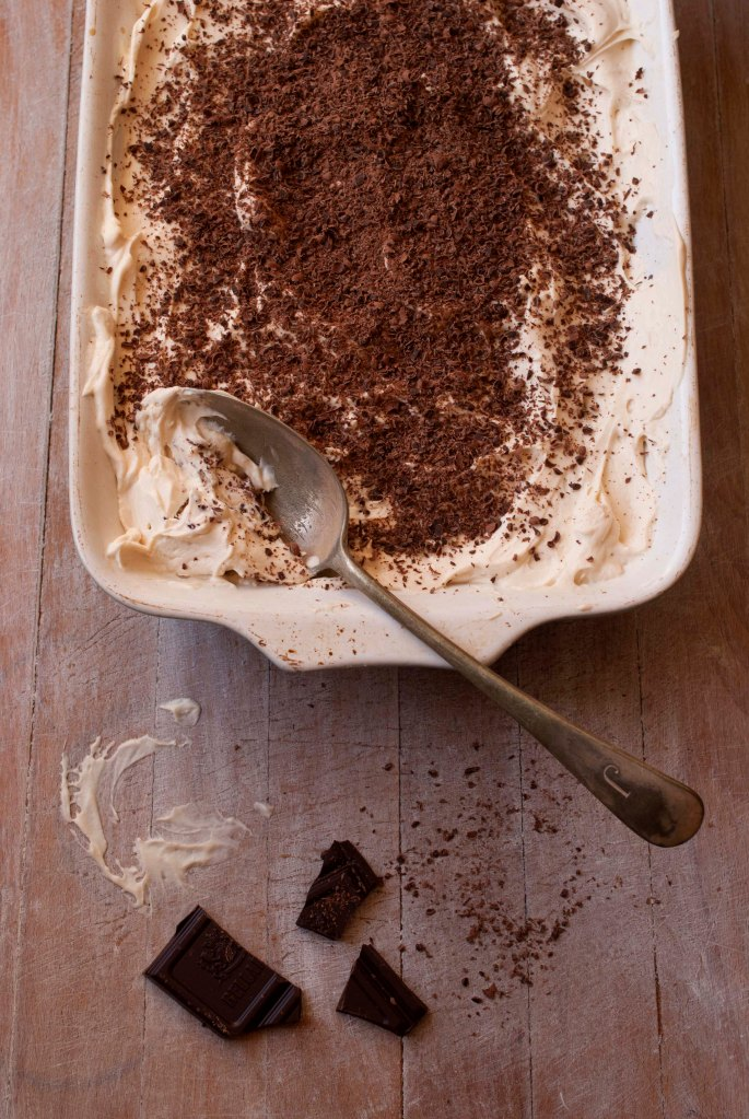 tiramisu and chocolate