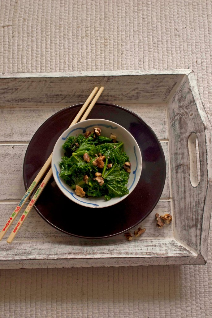 kale and chopsticks