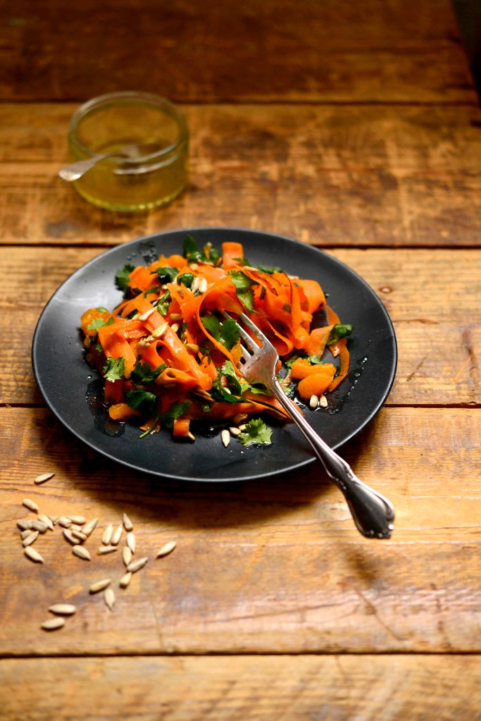 carrot salad and dressing
